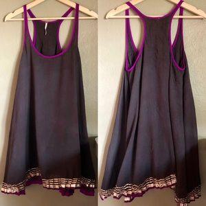 Free People RacerBack Cotton Mini Dress Sz S